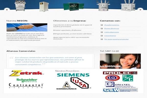 Diseño web Comercializadora Adauta