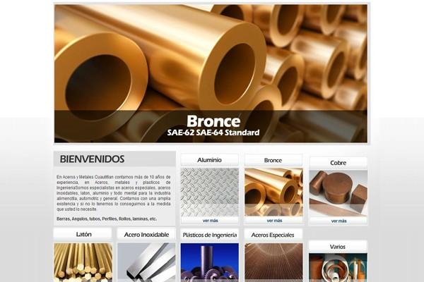 Diseño pagina web aceros y metales cuautitlan