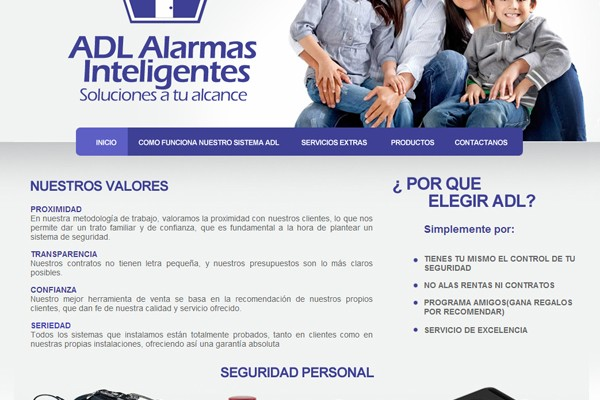 Diseño de catalogo virtual de Adl Seguridad