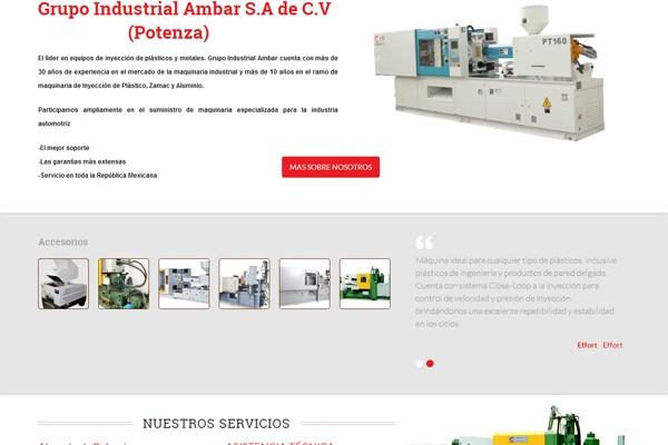 Diseño web y catalogo de Grupo Ambar