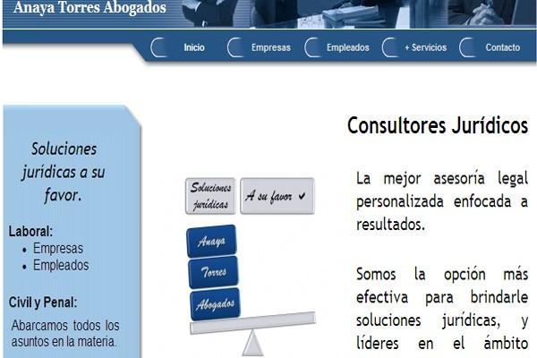 Diseño pagina web anaya torres