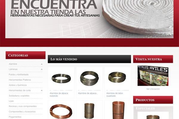 Diseño de tienda virtual y pagina web de Artesanos y Joyeros
