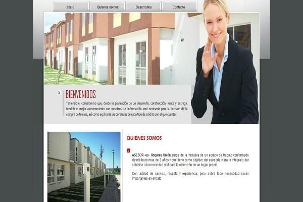 Diseño pagina web asesores hogares union