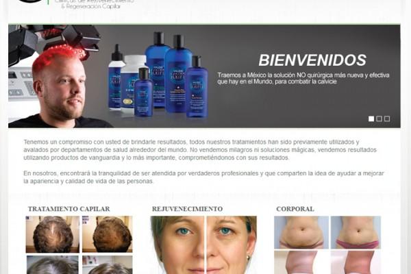 Diseño web de Bio Regenesis