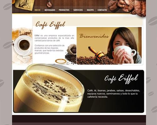 Diseño web cafe eiffel