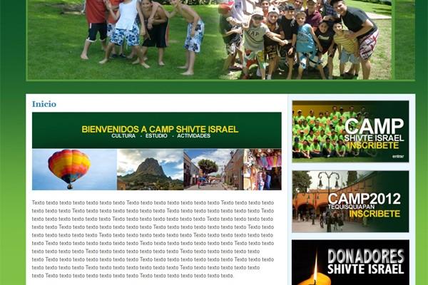 Diseño web de Camp Shivte Israel