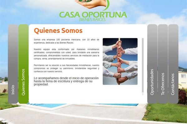 Diseño de página web de Casa oportuna bienes raices