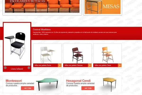Rediseño web y tienda virtual de Central Mueblera