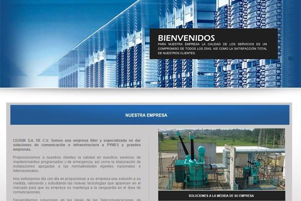 Diseño de página web de CEOGM