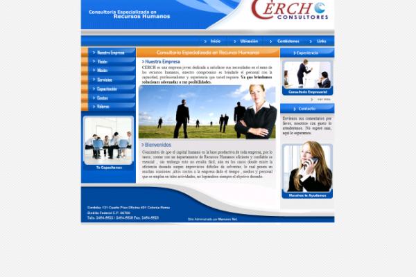 Diseño paguina web para consultoria Cerch