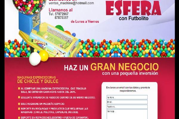 Diseño de pagina web chicles