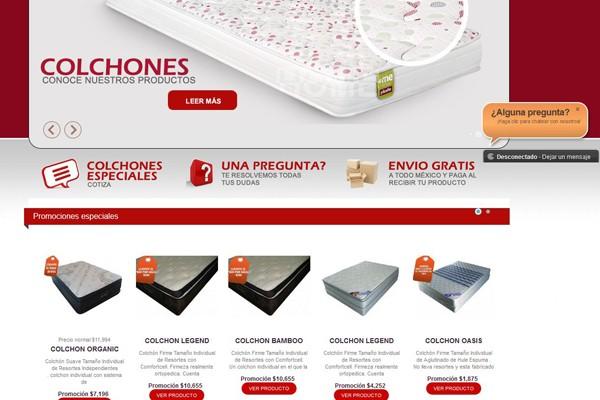 Diseño de tienda virtual de Tienda de Colchones