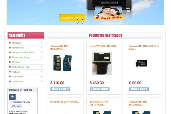 Diseño tienda virtual compuhard
