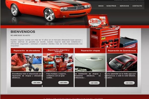 Diseño pagina web crashautopartes