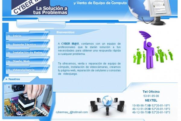 Diseño de pagina web cybermau