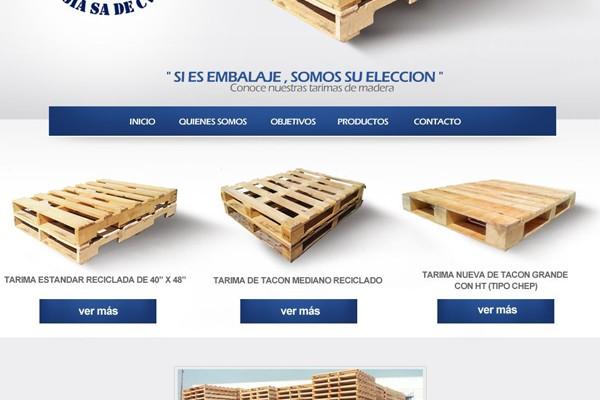Diseño paguina web para Embalajes Mexicanos