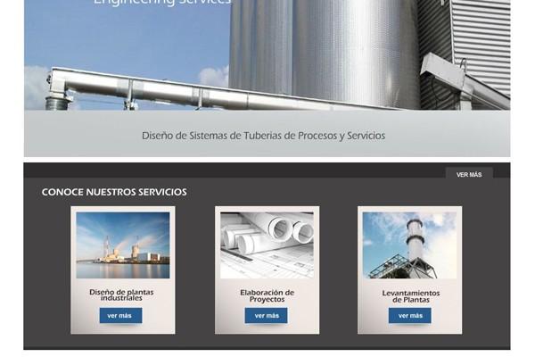 Diseño de pagina web de Engineering Services