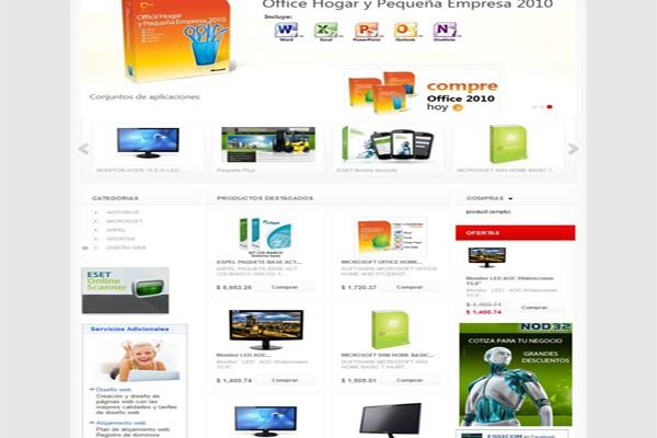 Diseño pagina web y tienda virtual essicom