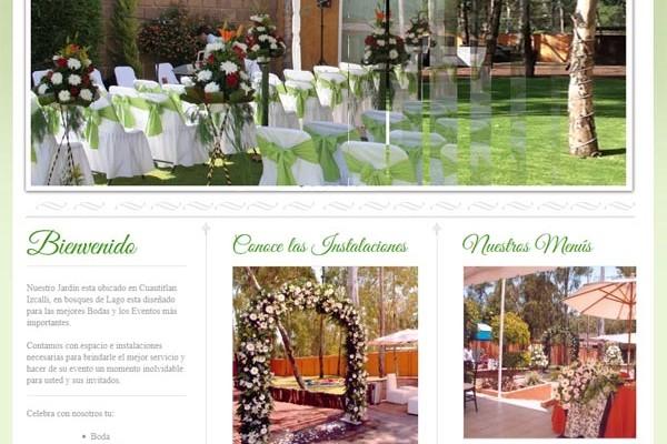 Diseño web de Jardín de eventos Eucalipto