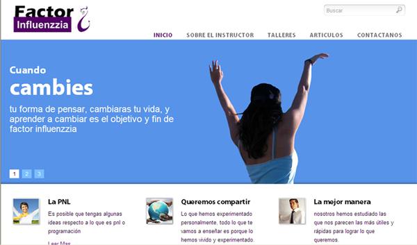 Diseño de pagina web factor influenzzia