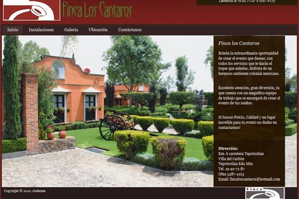 Diseño pagina web finca