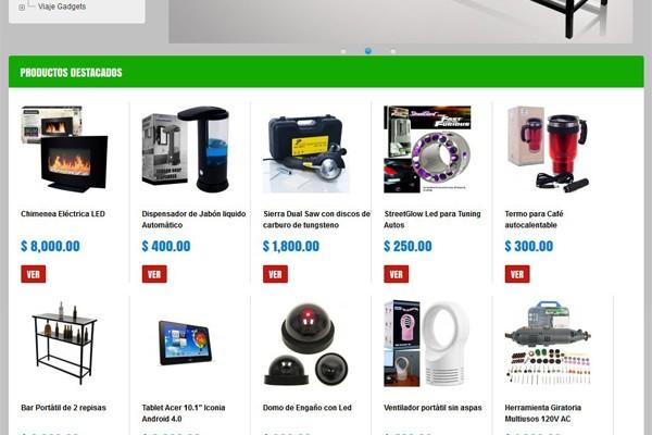 Página Web y tienda virtual para Gadgetshop