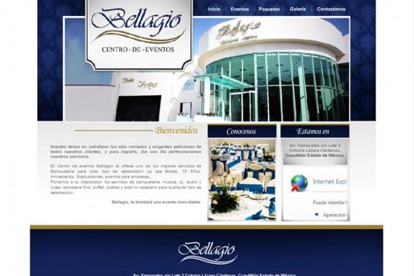 Diseño de pagina web grupo bellagio
