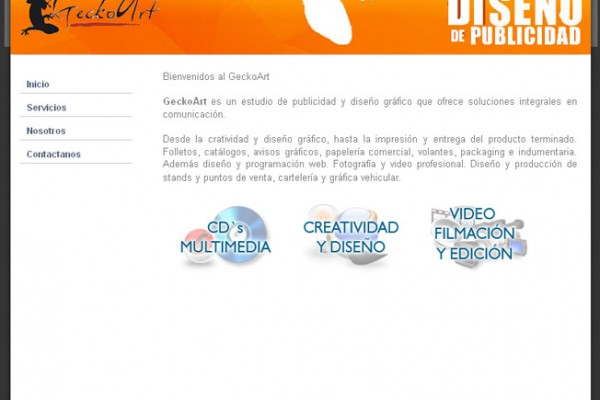Diseño de pagina web geckoart