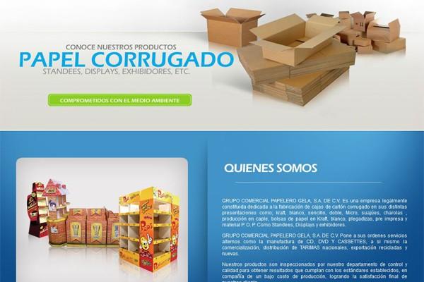 Diseño de página web de Gela