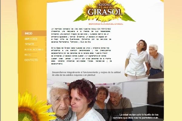 Diseño pagina web geriatrico girasoles