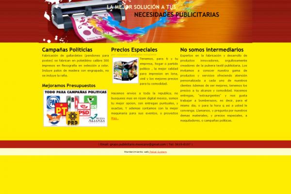 Diseño de pagina web gpm