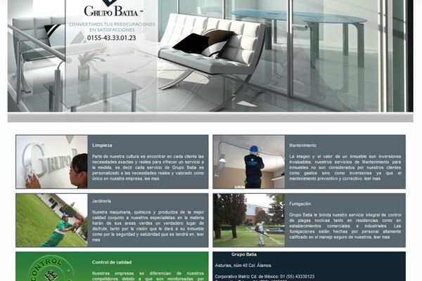 Diseño web de Grupo Batia