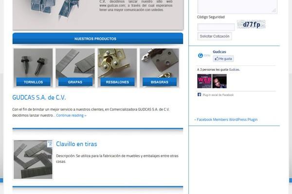 Diseño de la página y catalogo virtual para Gudcas