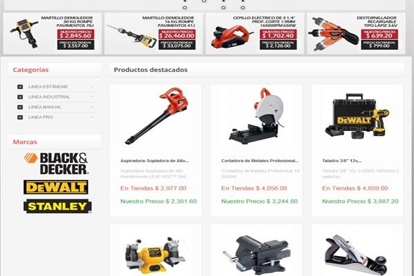 Diseño tienda virtual herramientas y equipo