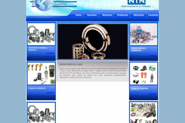 Diseño de página para IBU instrumentos y baleros universales
