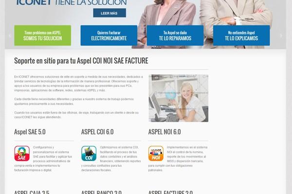 Diseño web de Iconet