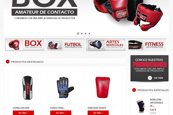 Diseño web y catalogo virtual de Iker Sport