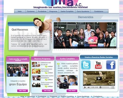 Diseño de pagina web ima