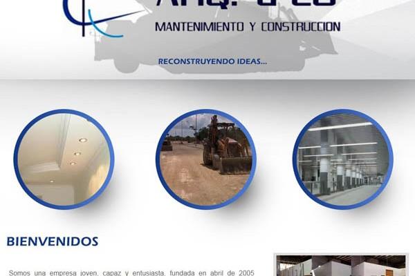 Diseño web de Arq d´co