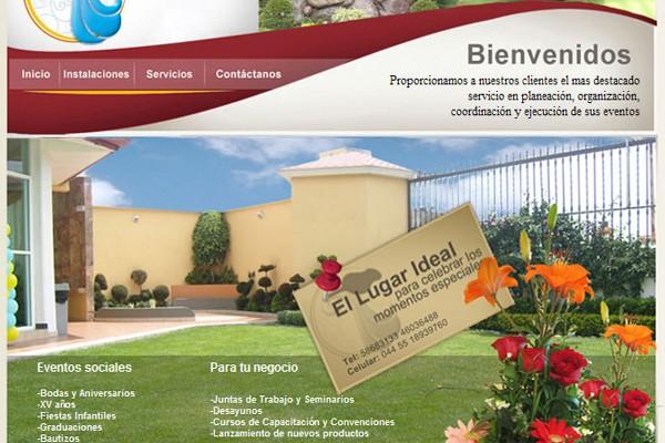 Diseño pagina web jardin cascada