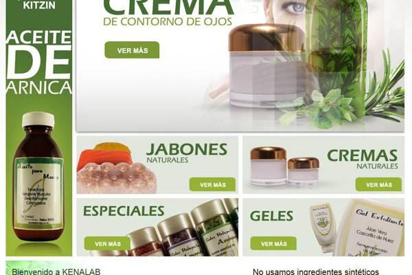 Diseño web de y tienda de Kenalab