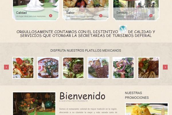 Diseño web de Restaurante los Virreyes