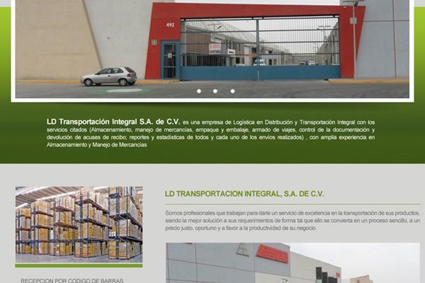 Diseño web de LD Transportación Integral