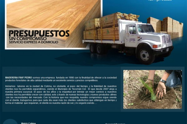 Diseño pagina web madereria fray pedro