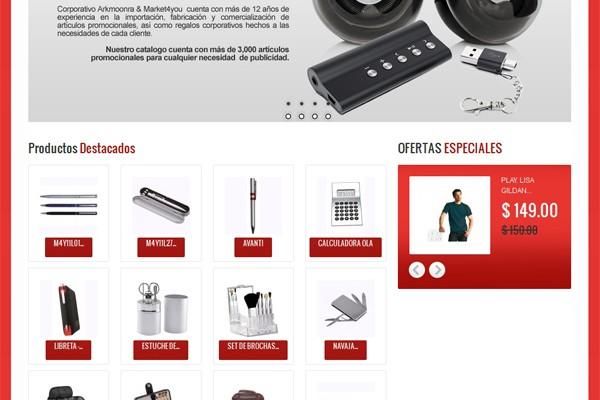 Diseño web y tienda virtual de Market4you