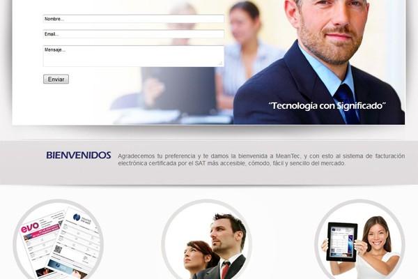 Diseño de web de Mean Tec