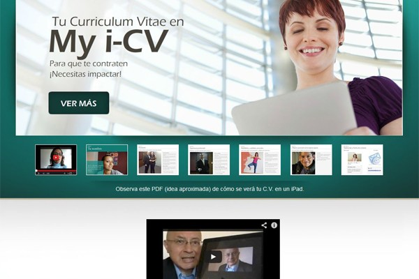 Diseño de una página para My-i-cv