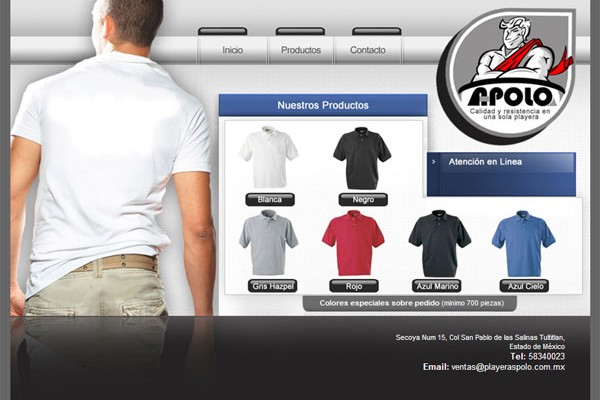 Diseño web playeras polo