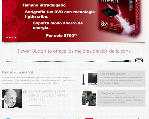 Diseño web power button
