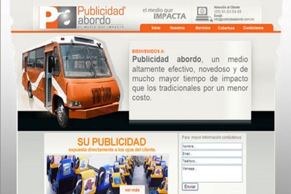 Diseño web publicidad abordo